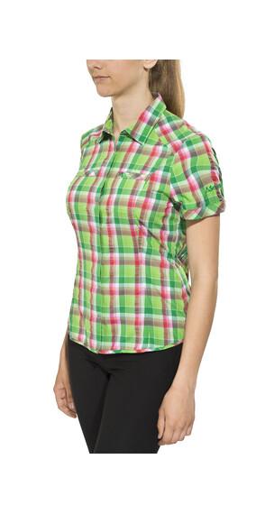Schöffel Los Angeles UV overhemd en blouse korte mouwen groen